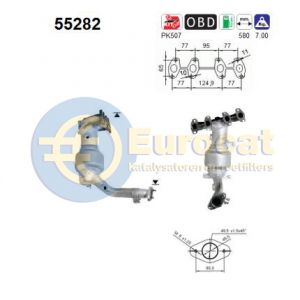 Punto 9/00- (1.2i-8V) katalysator