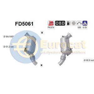 318D/320D (E90 / E91) (2.0D) 03/05- roetfilter cordieriet