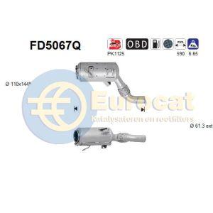 X5 (E70) / X6 (E71) (3.0D) 12/06- roetfilter silicon