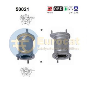 Tacuma 2/02-7/05 (1.6i-16V) / Nubira 7/00- (1.6i-16V) voorste katalysator