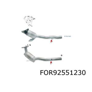 Scorpio II -7/98 (2.9i-V6 24V 152Kw) rechter katalysator