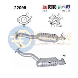Civic VII (1.4i-8V) katalysator