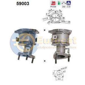 Joice 1/99 (2.0i-16V) voorste katalysator