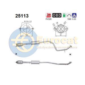 Mazda 5 (1.8i-16V/2.0i-16V) -12/07 katalysator achterzijde