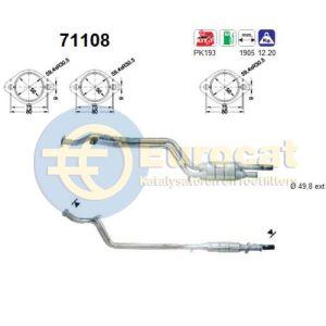 W124 (260E/300CE/300E/300TE) katalysator