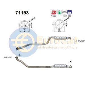 W210 -6/00 (E240/E280) linker katalysator