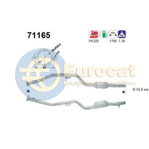 W210 -97 (E420) rechter katalysator