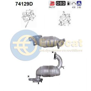 Primera 2/03- (1.9DCi) katalysator