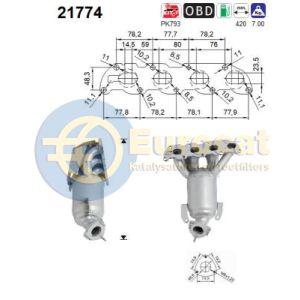 Corsa C 9/03-8/04 / Tigra B -8/05 (1.4i-16V 66Kw) katalysator