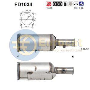607 (2.0HDi/2.2HDi) 03/01- roetflter cordieriet