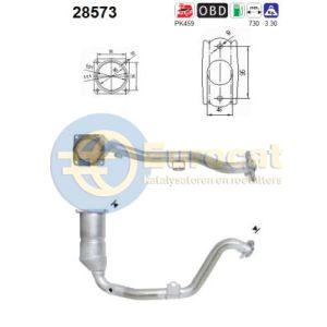 307 2/01- (1.6i-16V)(handbak) katalysator