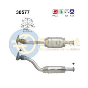 Megane / Scenic -1/00 (1.4i-16V/1.6i-16V) achterste katalysator