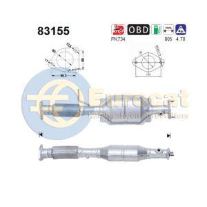 45 (2.0i-V6) achterste katalysator