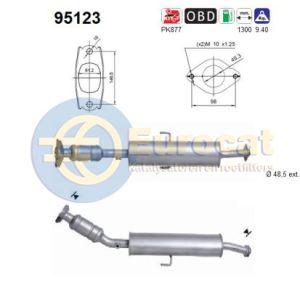 Auris 2/07-2/09 (1.6i-16V) katalysator
