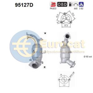 Auris -3/09 / Avensis -3/09 / Corolla (2.0TD D4D) voorste katalysator