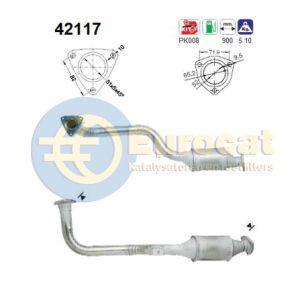 100 (2.6-V6/2.8-V6) / A6 (2.6-V6/2.8-V6) rechter katalysator
