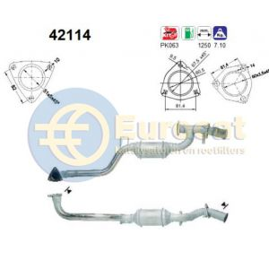 100 (2.6-V6/2.8-V6 en Quatto) / A6 (2.6-V6/2.8-V6 Quattro) linker katalysator