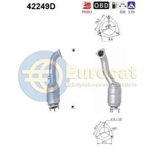 A6 / Allroad -9/08 (2.7TDi-V6 24V BSG/BPP/BMK/BNG/ASB) voorste katalysator