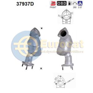Passat / Superb 5/03- (2.5TDi V6 BDG) voorste katalysator