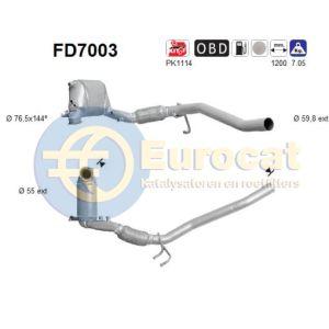 A3 / Altea / Golf V / Jetta III (2.0TDi) 11/05-  roetfilter cordieriet(e4)
