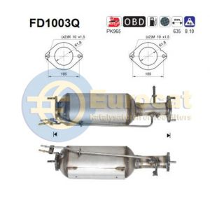 C-Max / Focus II / Mondeo IV / V50 (2.0D) roetfilter silicon