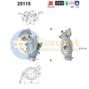 CX-7 (2.3MZR Turbo) 10/07-03/13 katalysator voorzijde