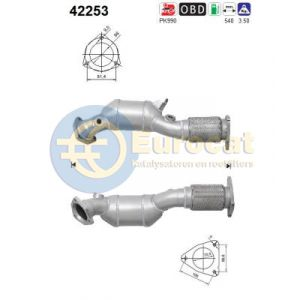 Q7 / Touareg 3/06-5/10 (4.2FSi BAR) voorste rechter katalysator