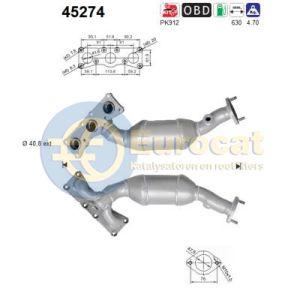 523i / 525i 3/05>12/06 achterste katalysator
