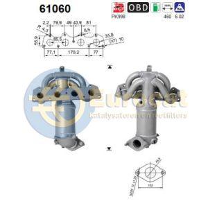 i30 / Cee'd (1.4i-16V / 1.6i-16V) -08/12 katalysator voorzijde