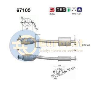Lybra (1.8i-16V) achterste katalysator