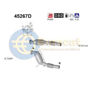 525TD / 530D katalysator (systeem met dpf)(automaat)
