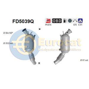 120D / 320D / 520D (2.0D) 10/07- roetfilter silicon