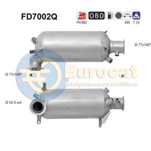 Transporter V / Multivan V  (2.5TDi) 04/03-  roetfilter silicon