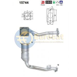 C2 -7/04 / C3 -10/05 / 1007 (1.6i-16V) katalysator
