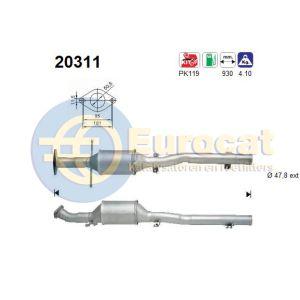 Focus (1.6i-16V) katalysator