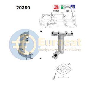 Fiesta 3/98-8/00 / Ka 9/96-8/00 (1.3i) katalysator