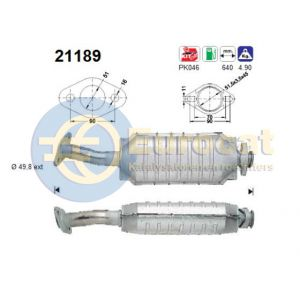 Astra F (2.0i-16V GSi 110Kw) 09/91-  katalysator
