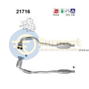 Astra G -9/00 / Zafira (1.4i-16V/1.6i-16V/1.8i-16V) katalysator