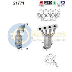 Astra H 1/06- / Vectra -2/09 / Zafira -7/08 (1.8i-16V Z18XER) katalysator