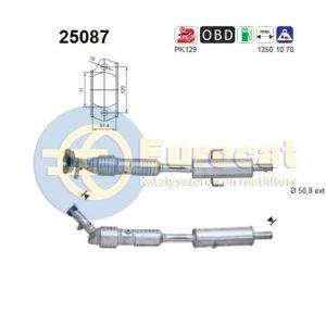 Mazda 6 7/02-8/07 (1.8i-16V/2.0i-16V) katalysator