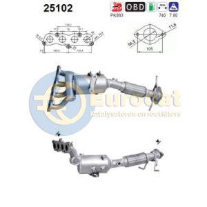 Mazda 3 (1.4i-16V/1.6i-16V) 10/05-12/08 katalysator