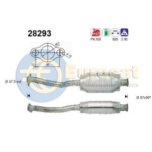 Saxo -9/00 (1.6i-8V/1.6i-16V) / 106 (1.3i/1.4i/1.6i/1.6i-16V) katalysator