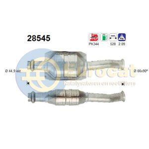 206 -8/00 (1.6i) katalysator
