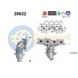 C4 / C4 Picasso / C5 II / 307 / 308 / 407 10/05- (1.8i-16V/2.0i16V) voorste katalysator