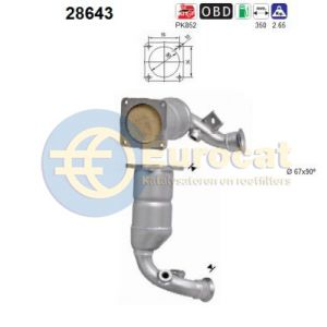 C4 11/04- / 206 10/05-  / 307 6/05- (1.4i-16V) katalysator