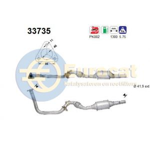 Cordoba 7/95-6/99 / Ibiza 7/95-6/99 / Polo IV 5/97- (1.4i) katalysator