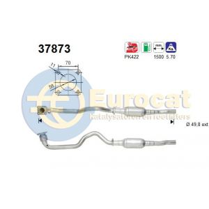 Golf IV / Bora / Leon / Toledo (1.4i-16V AXP/APE/AKQ/AHW) katalysator compleet met voorpijp