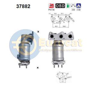 Fabia 9/02-4/03 / Polo V -5/04 (1.2i-12V) katalysator