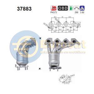 VAG (1.4i-16V/1.6i-16V AUA/BBY/AUB/APE/BBZ/AQQ/AZD/BCB) voorste katalysator