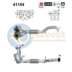 147 -2/02 / 156 (1.8i-16V/2.0i-16V ) voorste katalysator